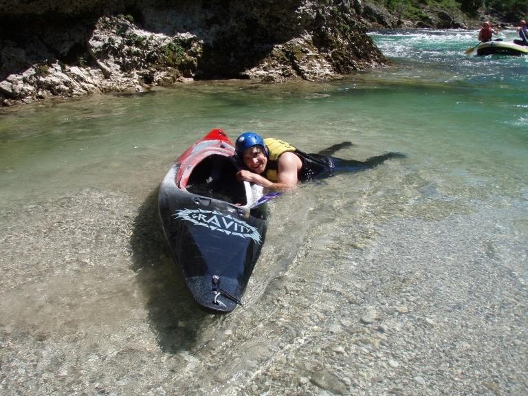Kajak und Schwimmen - gehört irgendwie zusammen