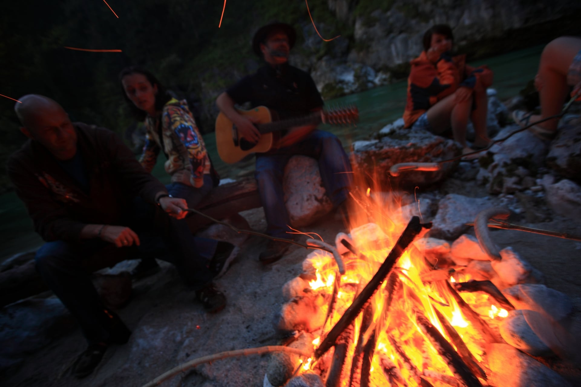 Lagerfeuer Rafting Camp Palfau